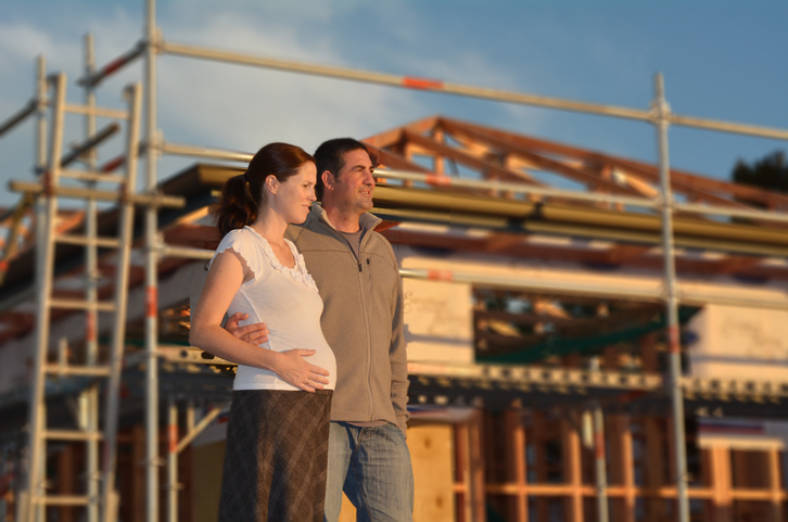 Buying a new house – Concept