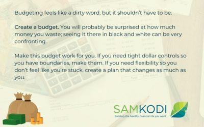 JANUARY TIPS – Create a Budget