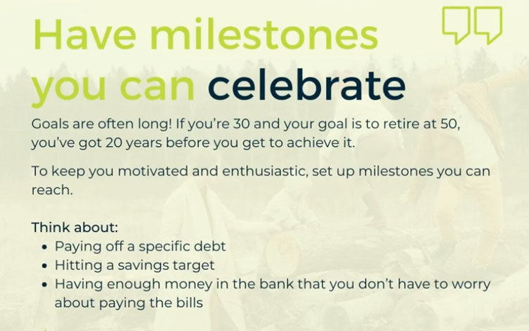 JANUARY TIPS – Have Milestones You Can Celebrate