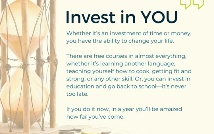 JANUARY TIPS – Invest in You